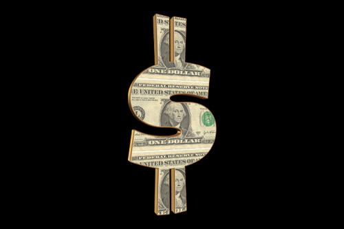 Average American Income - Dollar sign photograph