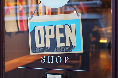 Better Shopping Tips - Store open sign photograph