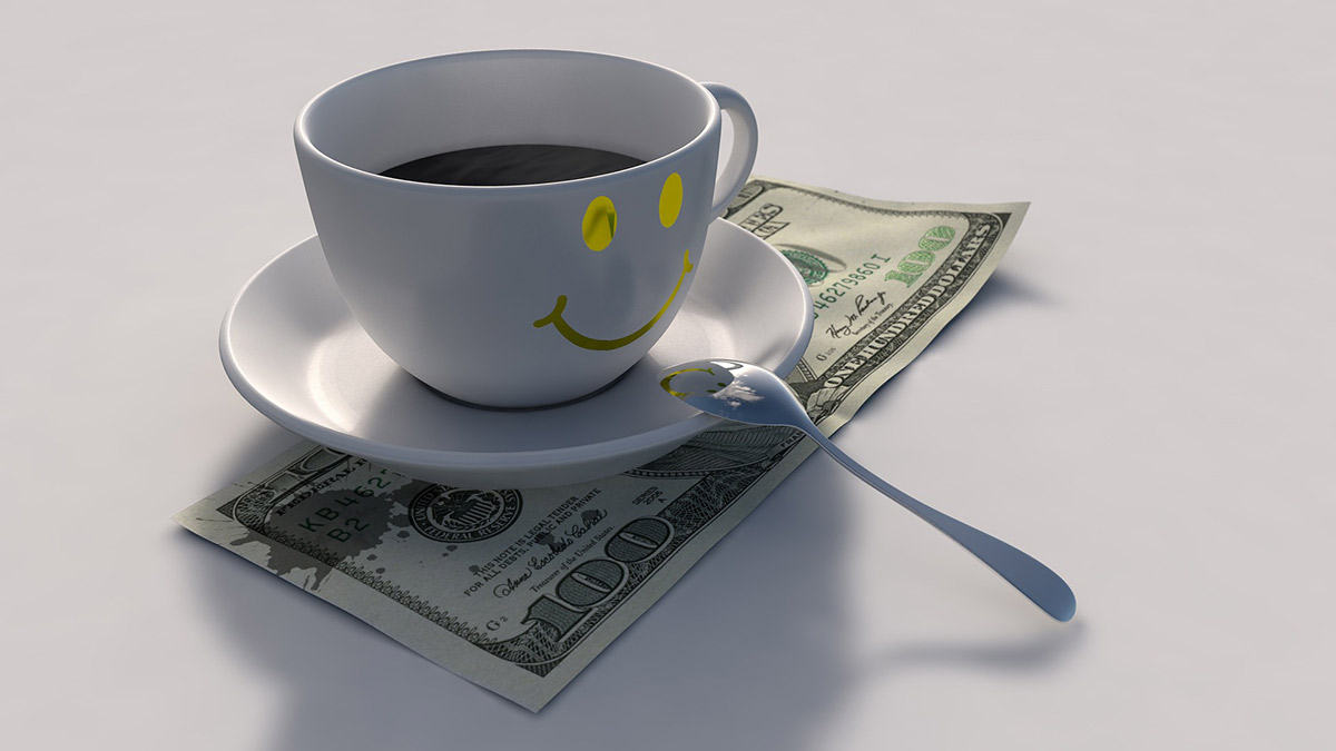Money and Coffee Photograph - True wealth is a value of health, family, and wisdom.