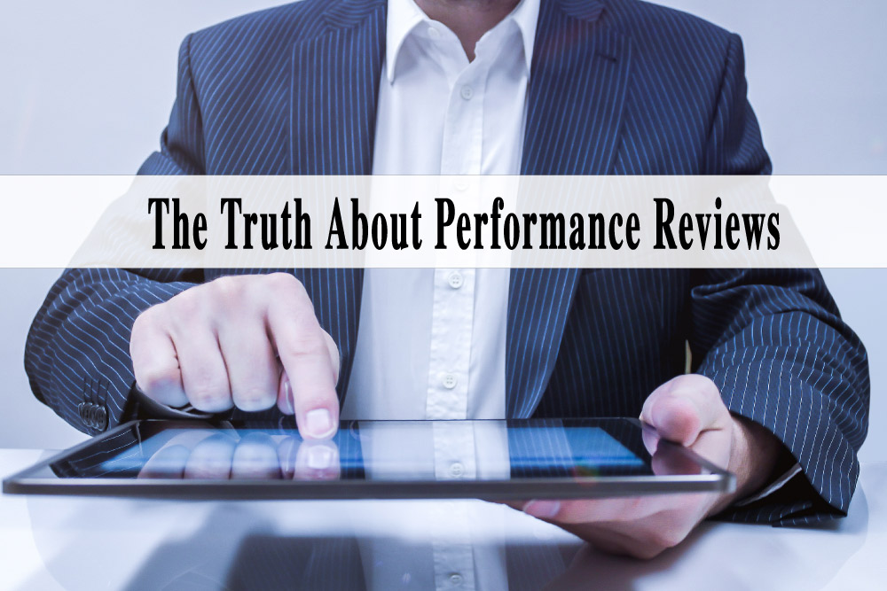 The Truth About Performance Reviews Graphic