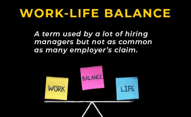 Work-Life Balanace - A term used by a lot of hiring managers but not as common as many employer's claim.